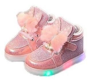 Sapato Tênis Menina Infantil Pisca Pisca Lindo Importado