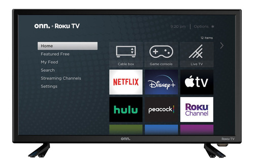 Imagen 1 de 4 de Televisor Onn 100012590 24  PuLG Hd (720p) Roku Smart Led Tv
