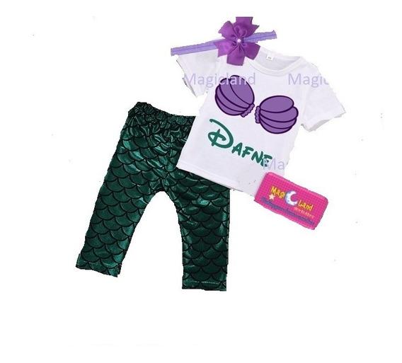 Disfraz Sirenita Ariel Personalizado Conjunto Niña