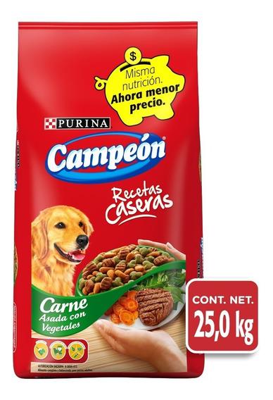Alimento Para Perro Campeon Adulto Rec. Casera Bulto 25 Kgs.