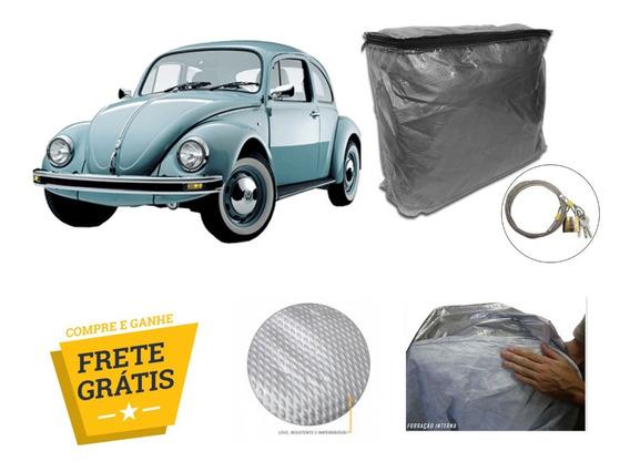 Capa Cobrir Carro Vw Fusca 100% Forro Impermeavel + Cadeado