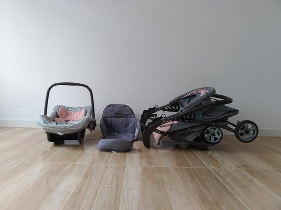 Carrinho Tucano Maxi + Cadeira Auto Tour Se-flórida + Ninho