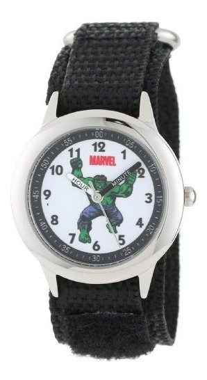 Marvel Hulk - Reloj Para Profesor De Hora, Color Negro