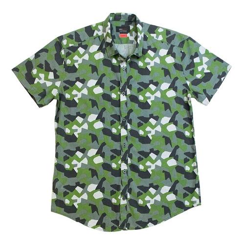 Camisas Manga Corta Caballero Rori Slim Estampada