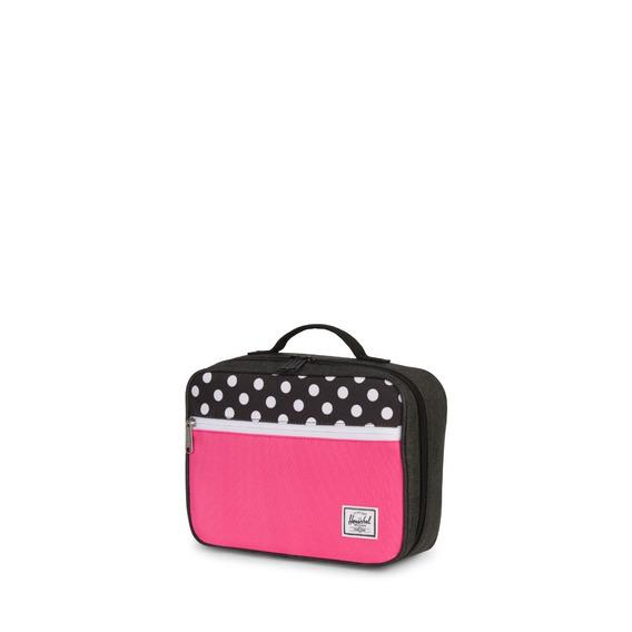 Lunchera Herschel Pop Quiz Lunchbox Negro/rosa