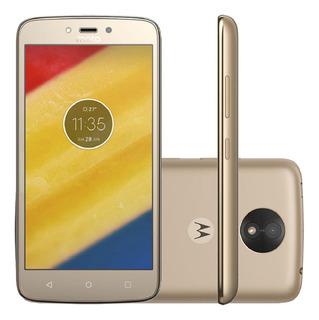 Motorola Moto C Plus Xt1726 16gb Dual 4g Dourado Excelente