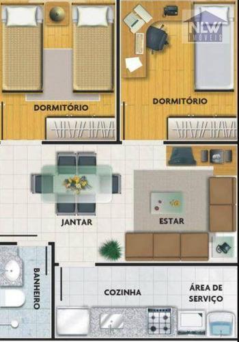 Imagem 1 de 5 de Apartamento Com 2 Dormitórios À Venda, 40 M² Por R$ 208.000,00 - Mogi Das Cruzes - Mogi Das Cruzes/sp - Ap3129
