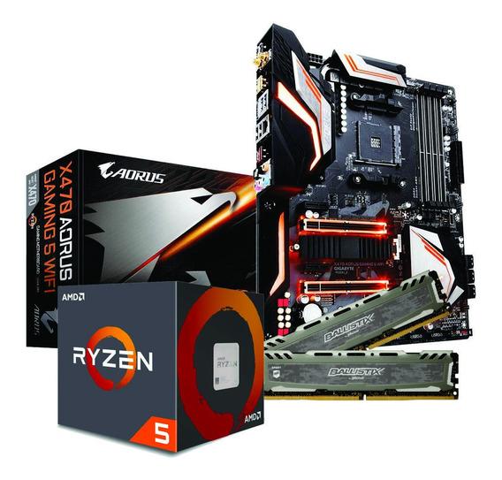Ryzen 5 2600x X470 Aorus Gaming 5 Wi-fi 2x 8gb Bls 3000mhz