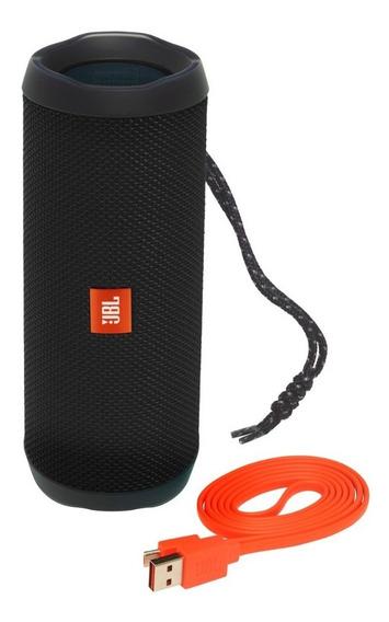 Caixa De Som 100% Original Jbl Flip 4 Speaker Preta