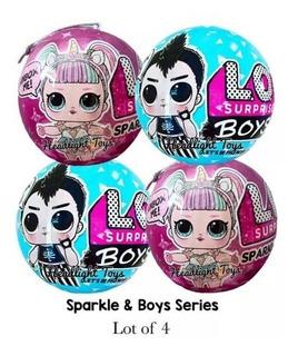 4 Lol Surprise 2 Sparkle Series 6 Dolls Sister + 2 Boys Bal