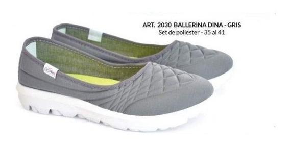 Zapatillas De Mujer Tipo Pancha (gowell 2030)