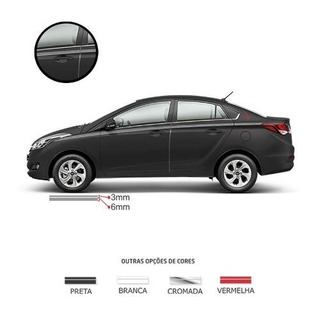Kit Faixa Dupla Decorativa Cinza 10m Adesivo Universal Carro