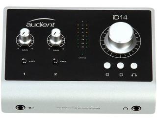Placa De Audio Usb Audient Id14 Interfaz De Sonido
