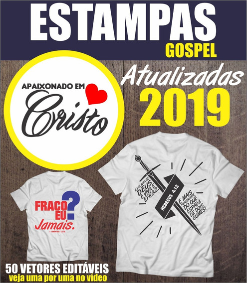 Estampas Gospel 2019 Vetores Evangélicas Envio Imediato