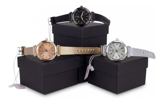 Kit 3 Relógios De Pulso Femininos Original Atacado Garantia