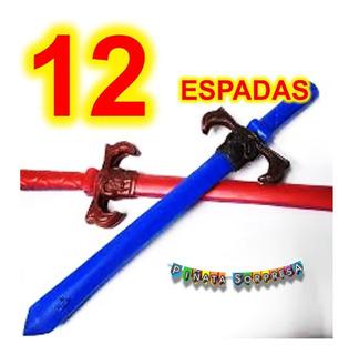 12 Espada Niño Juguete Piñata Bolo Regalo Cumple Sable Fiest