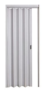 Puerta Plegadiza Reforzada Blanca Pvc 10mm Completa 0,75x2m