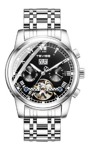Reloj Mecanico Automatico Inoxidable Cronografo Calendario