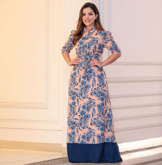 Vestido Estampado Az Irmãs Moda Feminina Evangélica