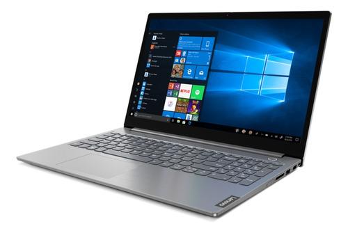 "Imagen 1 de 5 de Notebook Lenovo ThinkBook 15 IML mineral gray 15.6"", Intel Core i5 10210U  8GB de RAM 256GB SSD, Intel UHD Graphics 1920x1080px FreeDOS"