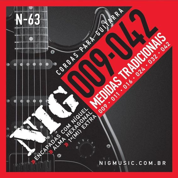 Encordoamento Para Guitarra Eletrica Nig 09 042 N63 Original