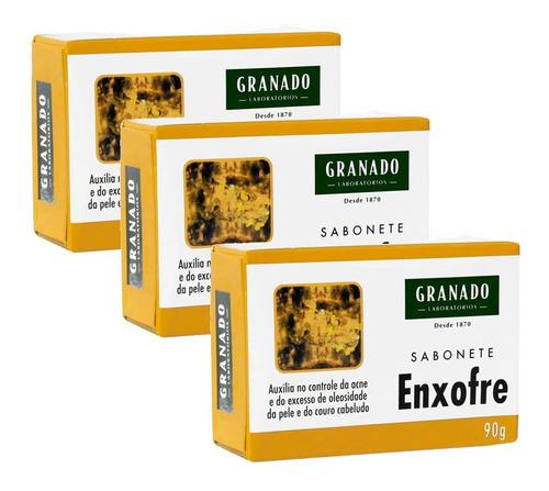 Sabonete Granado Enxofre C/3 Para O Rosto Melhor Que Actine