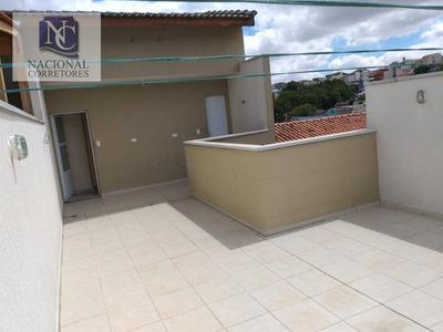Cobertura Com 2 Dormitórios À Venda, 74 M² Por R$ 250.000 - Vila Alto De Santo André - Santo André/sp - Co3807