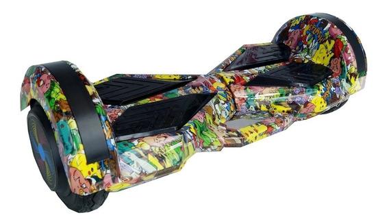 Skate Elétrico 8 Polegadas Hoverboard Bluetooth Led