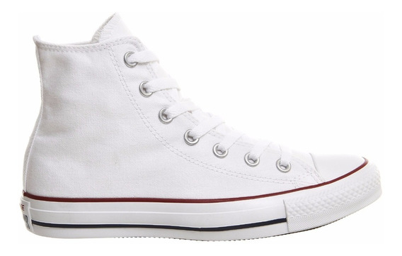 Botitas Converse All Star Blanco Rojo!!!! 100% Original!