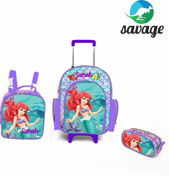 Kit Escolar Ariel Com Carrinho G