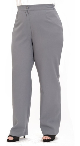 Pantalon De Vestir Gris Para Mujer Pantalones Jeans Y