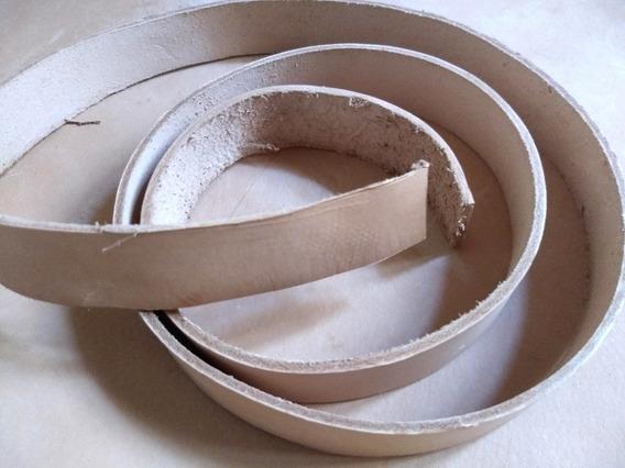 Lonjas Cuero Vaqueta Natural 3,5cm Cinturones, Collares, Etc
