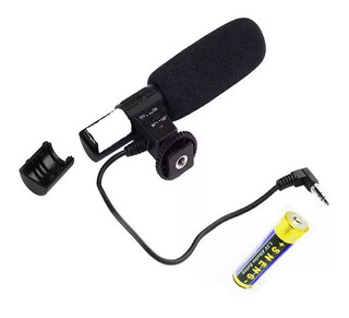Hopemob Microfono 3.5 Mm Para Camara Dslr Reflex Canon Nikon Sony Alta Sensibilidad