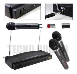 Microfono Inalambrico De Mano Doble Karaoke Hifi Linea Pro