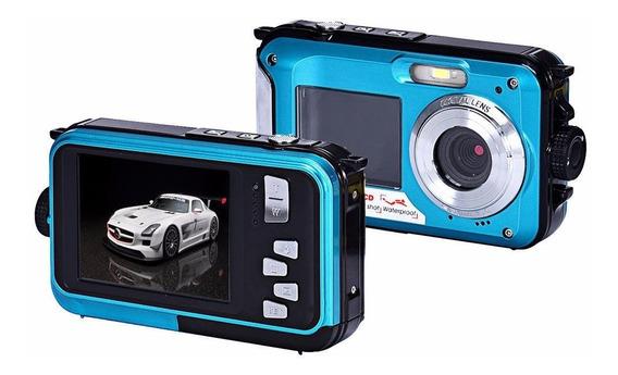 Câmera Filmadora Digital Blue 1080p Hd 24 Mp - Prova D