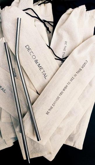 Sorbetes De Acero- 10 Kits- 1 Sorbete + Cepillo + Bolsita