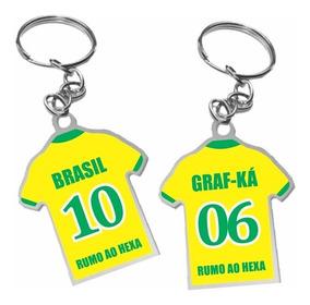 Chaveiro Lembrancinha Personalizado - Camisa -02 Lados 100un