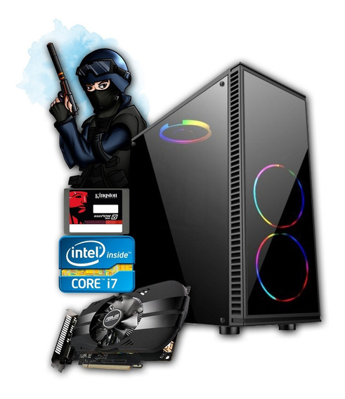 Pc Gamer Core I7 + Gtx 750ti 2gb + 8gb Memória + Ssd 240gb