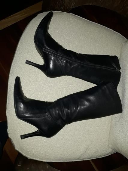 Botas Negras Cuero Impecables Talle37