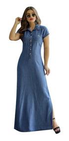 Vestido Longo Feminino. Roupas Evangélicas Jeans (ref-1023)