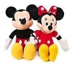 Urso Pelucia Mickey Mouse E Minnie Com Musica - Par