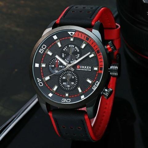 Curren 8250 Relógio De Quartz Masculino - Preto