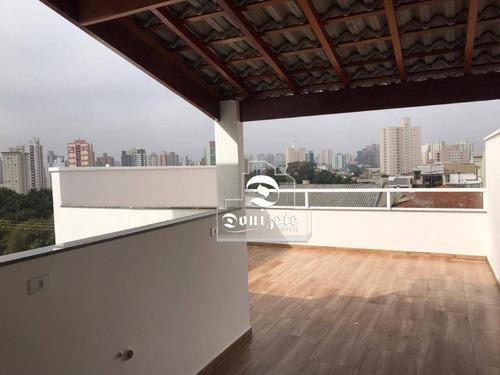 Cobertura Com 1 Dormitório À Venda, 90 M² Por R$ 449.000,00 - Jardim - Santo André/sp - Co10934