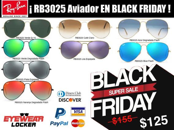 Gafas Ray Ban Aviador Rb3025 100% Originales