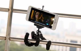 Tripé Flexível Câmeras Pequenas + Adaptador Celular