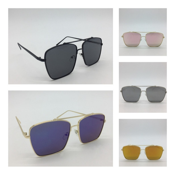 Oculos De Sol Masculino Feminino Quadrado Espelhado Polariza