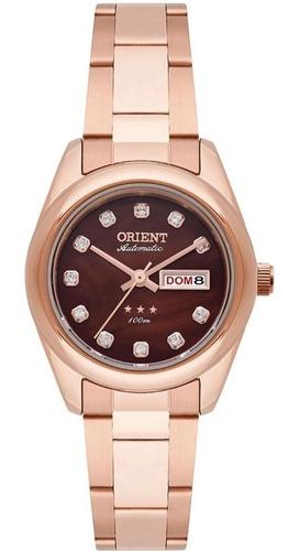 Relógio Orient Feminino Automatico Com Fundo Marrom