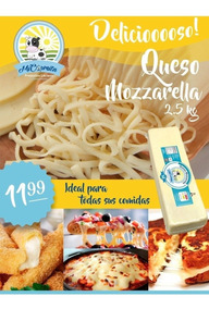 Queso Mozzarella Pizza - 2,5 Kg Domicilio Quito Provincias