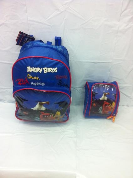 Kit Mochilete +lancheira Angry Birds 801302