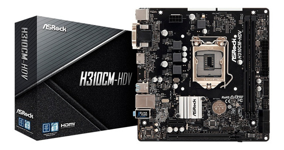 Mother Asrock Intel H310cm-hdv 1151 Hdmi Dvi Usb 3.0 Ddr4 Pc